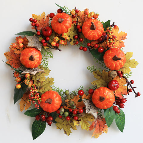 Halloween fall wreath for front door