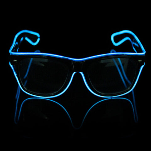 Halloween el wire flashing sunglasses