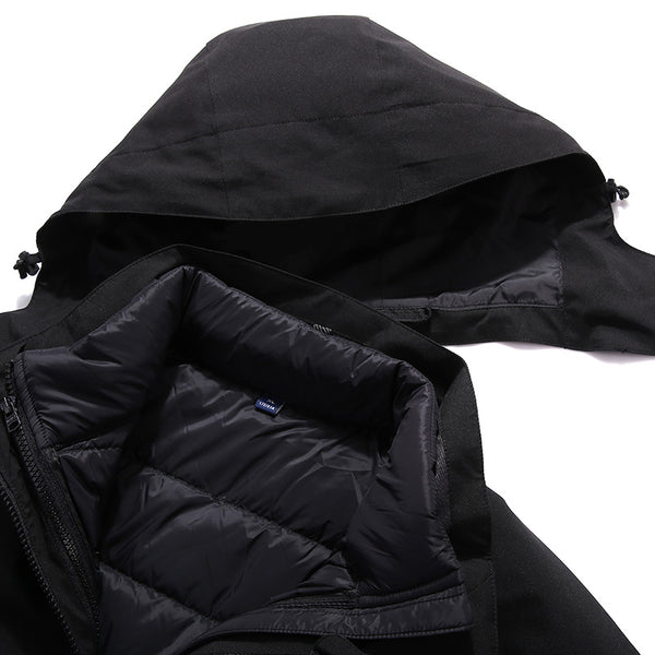 Hooded down feather interchange jackets - Fancyever