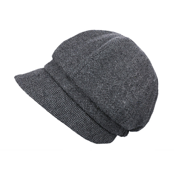 Herringbone newsboy caps - Fancyever