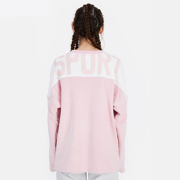 Letter print loose running sport sweatshirts - Fancyever
