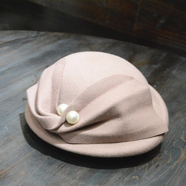 French pearl trilby hats