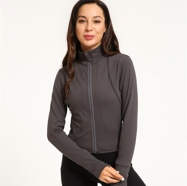 Zip-up yoga running sport jackets - Fancyever