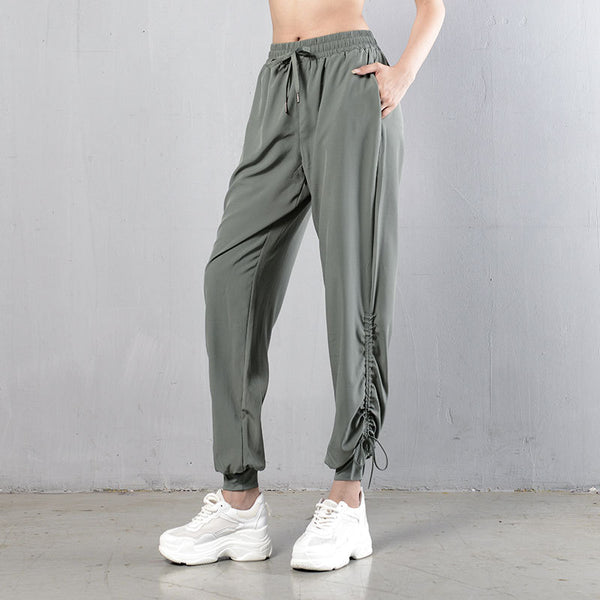Drawcord quick dry fitness joggers