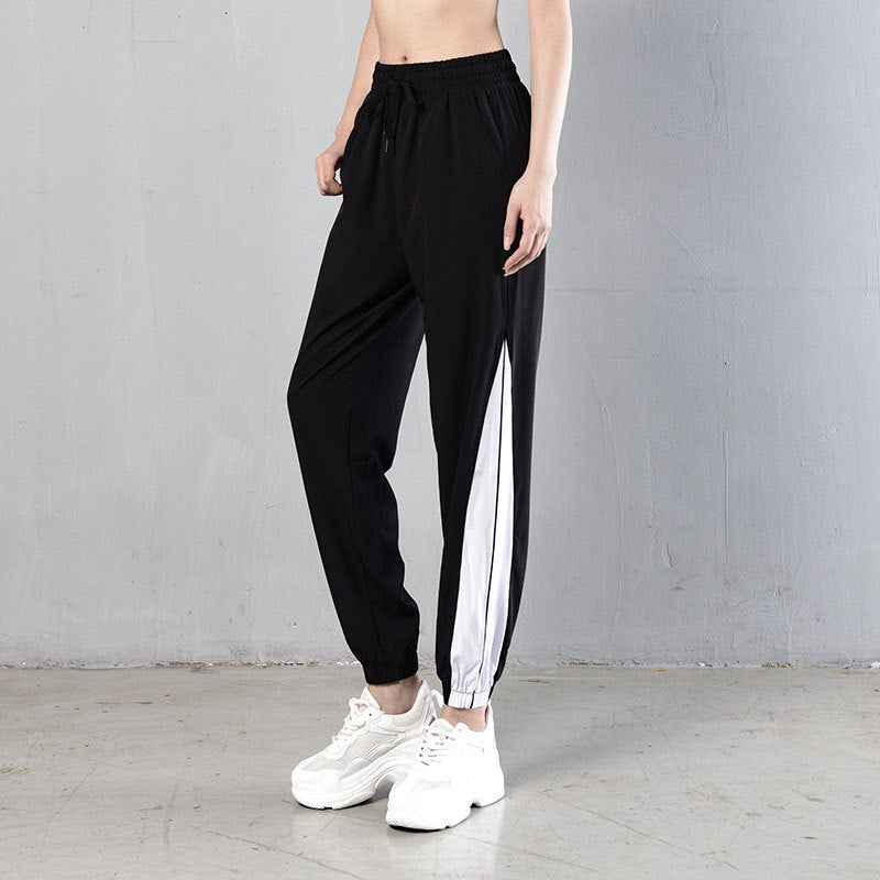 Color-blocked drawcord sweat pants