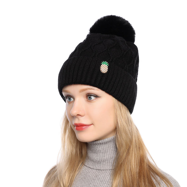 Outdoor plush lined knit hats - Fancyever