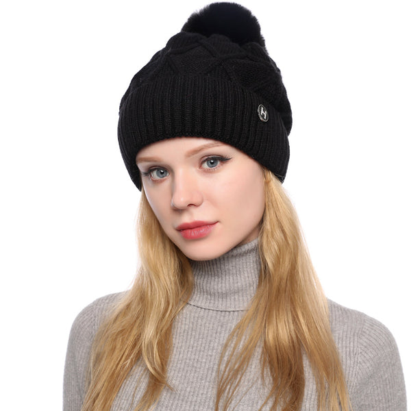 Plush lined knit hats - Fancyever