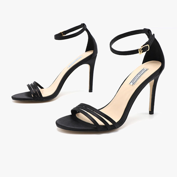 Elegant open-toe ankle-strap sandals
