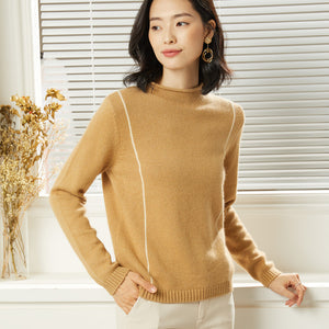 Mock neck pullover sweaters