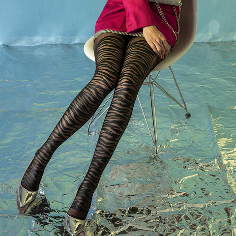 3 pairs leopard print pantyhoses