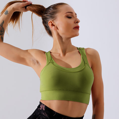 Solid shockproof daily comfort sports bras