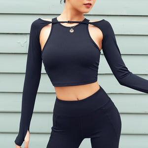 Crew neck solid color active tops