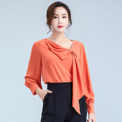 Irregular designed pull over blouses