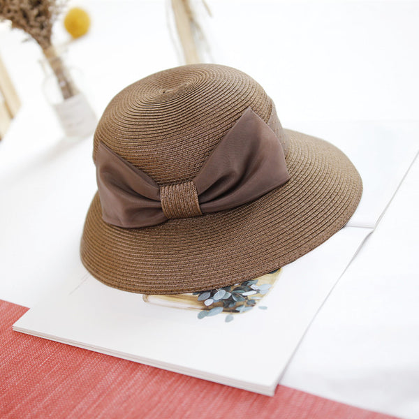 Foldable washable straw wide brim hats