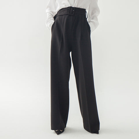 Basic high waist wide leg pants