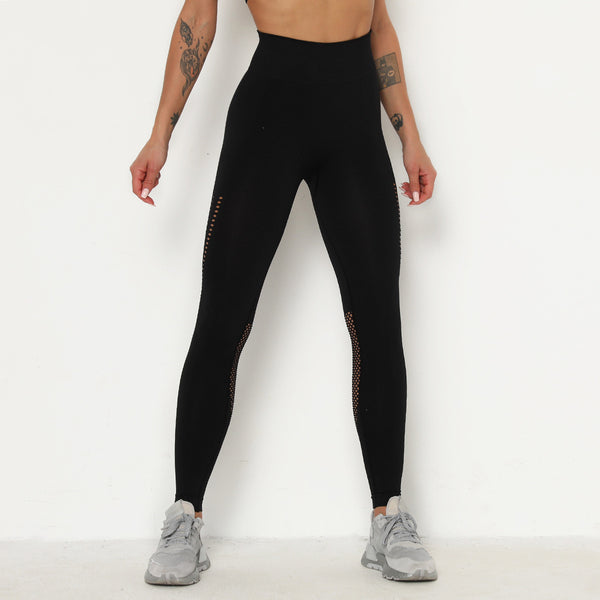 Openwork high waisted active pants