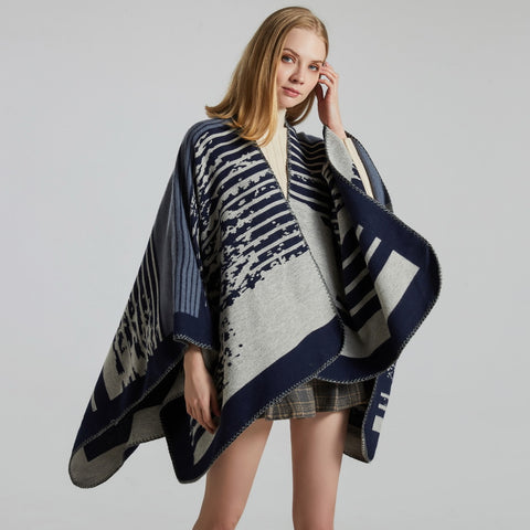 Bohemia print striped shawl scarves