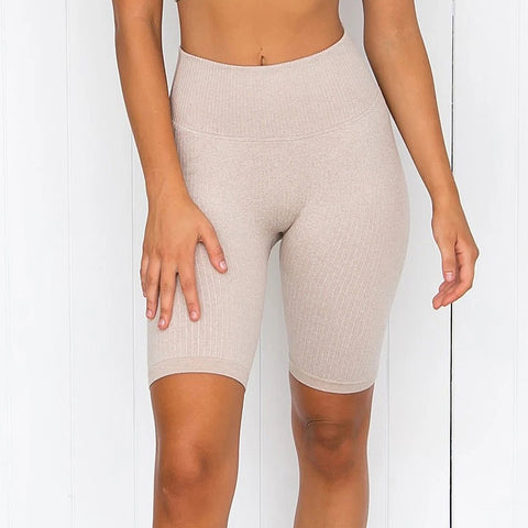 High waisted yoga fitness active shorts