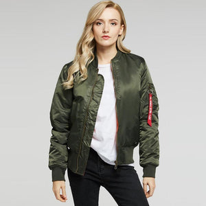 Cotton lined zippered bomber jackets - Fancyever