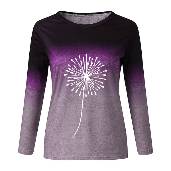 Tie-dye printed long sleeve sweatshirts