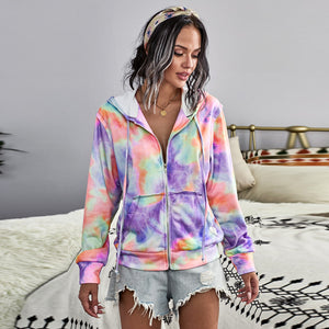 Hit color long sleeve hoodies