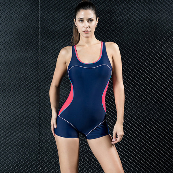 Scoop neck one piece swimwear - Fancyever