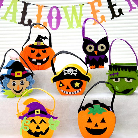 *Halloween nonwoven three-dimensional portable pumpkin candy gift bags* - Fancyever
