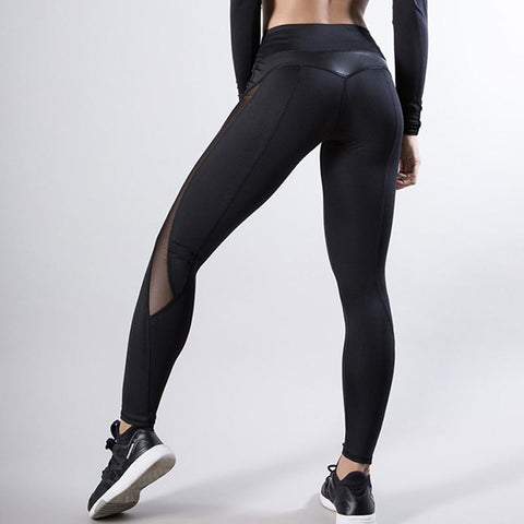 Transparent PU leather yoga legging pants