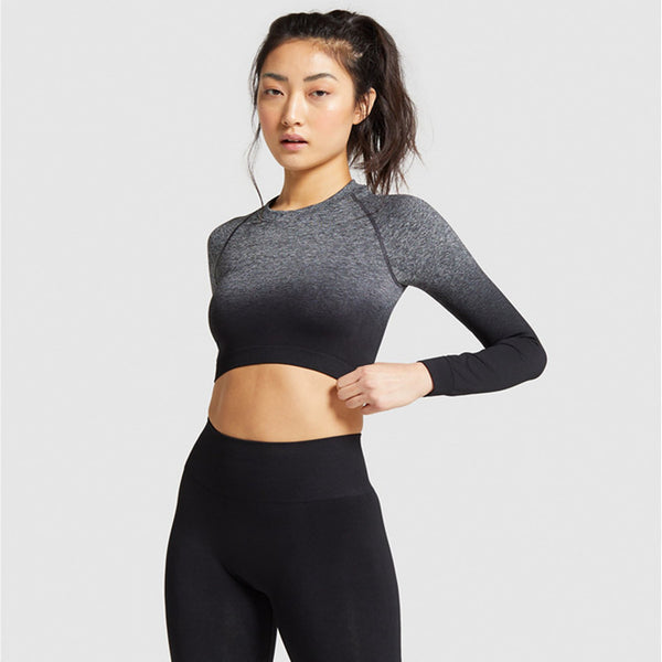 Long sleeve gradient ramp active suits