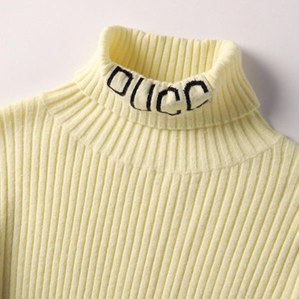 Letter print knit tops - Fancyever