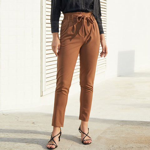 Solid color high waisted skinny pants