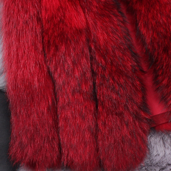 Faux fur sleeveless warm vests - Fancyever