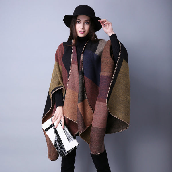 Colorbock soft thick blanket scarves shawls - Fancyever
