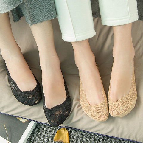 10 pairs lace non-slip liner socks