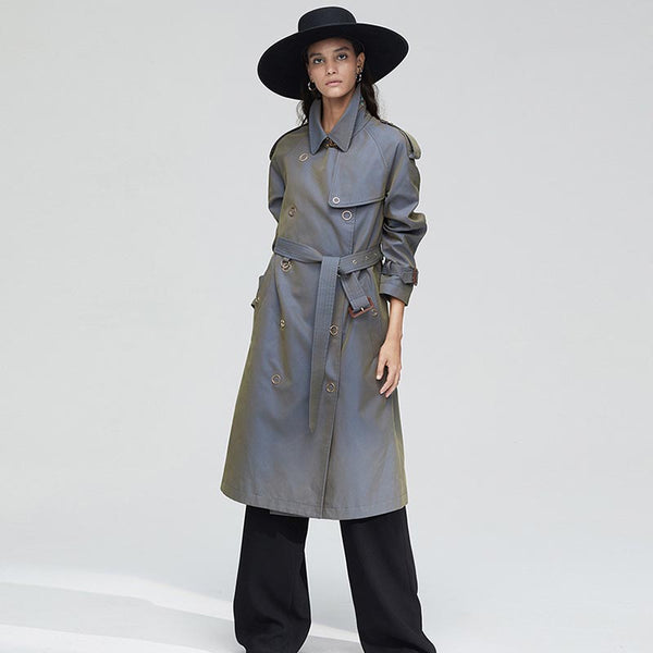 Buttoned trench coats - Fancyever