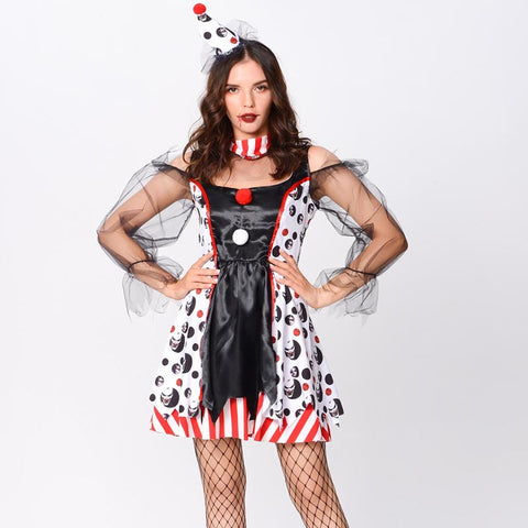 Halloween vampire clown costume sets