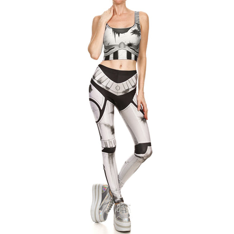 Halloween print tight sport tracksuits - Fancyever