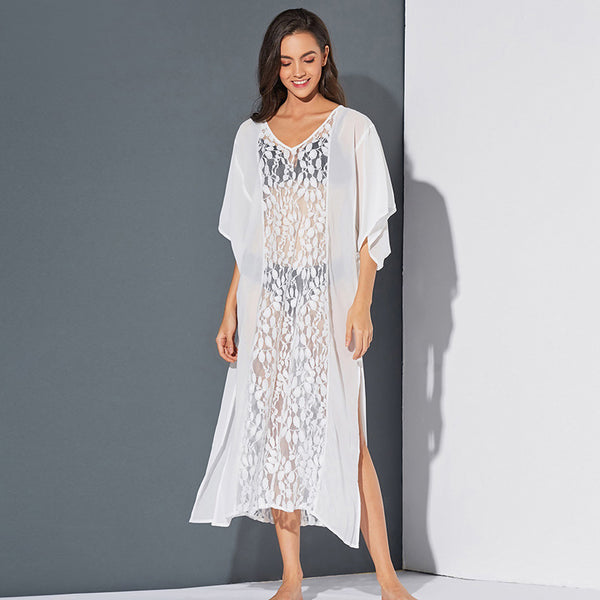 Sexy transparent lace pullover beach dresses - Fancyever