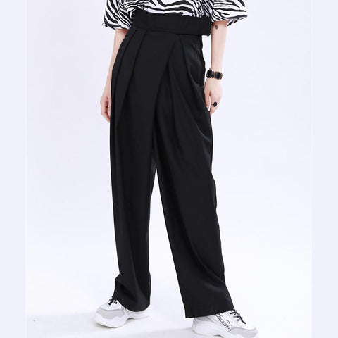 High waist velcro wide leg pants