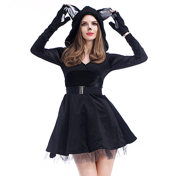 Halloween black cat cosplay costumes - Fancyever