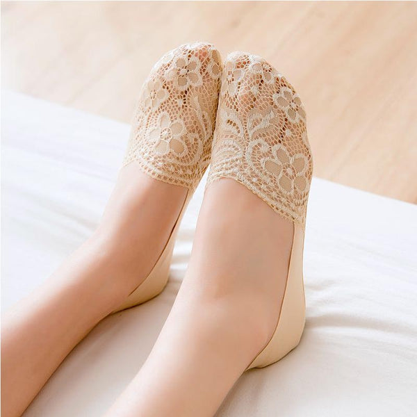 10 pairs lace low cut liner socks