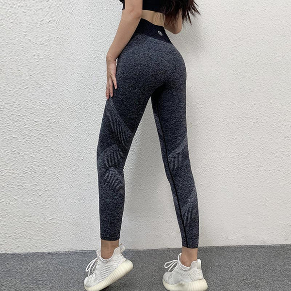 Color block high waist work out pants leggings