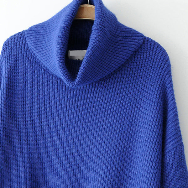 Turtleneck long loose knitted sweaters