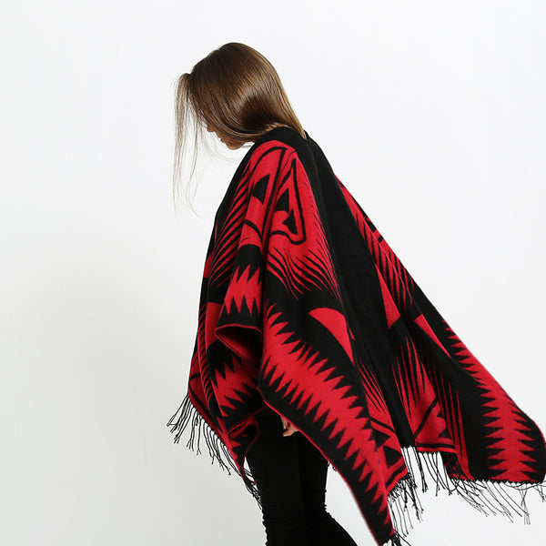 Color-blocked ultra-soft fringed shawls scarves - Fancyever