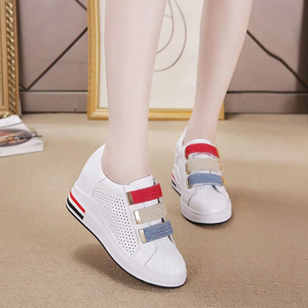 Color clock breathable height increasing shoes