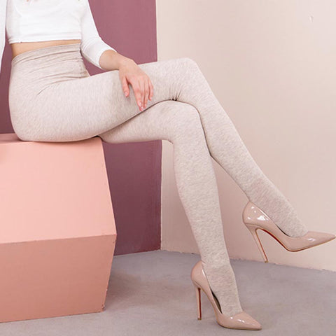 Elastic solid color pantyhoses