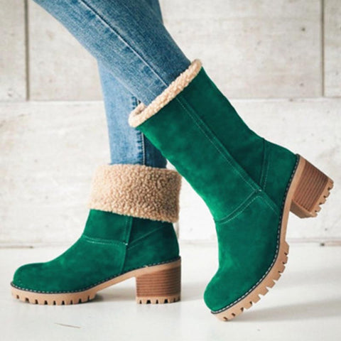 Suede solid non-slip snow boots