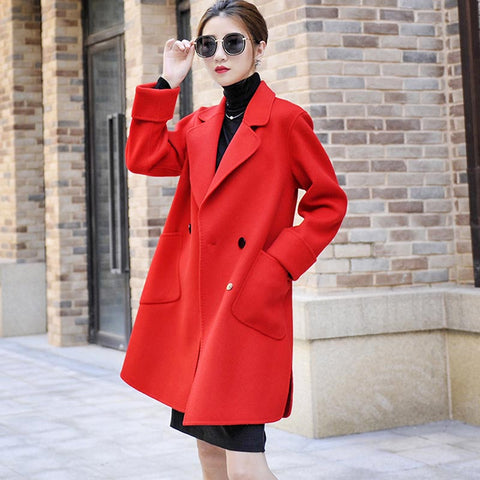 Classic woolen peacoats with pockets