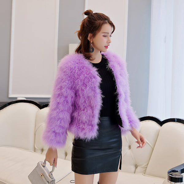 Fluffy faux fur short coats