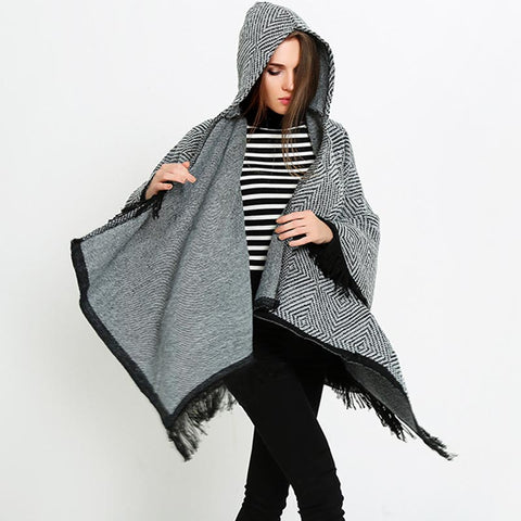Geometric printed tassel capes - Fancyever